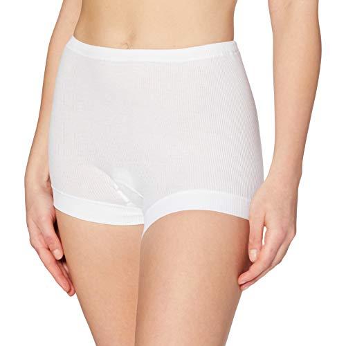 CALIDA Damen Hose Cotton 2:2 Panties, Weiß, 46