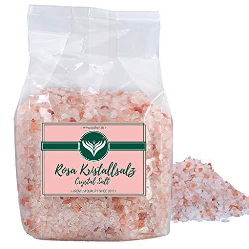 Azafran Rosa Kristallsalz (bekannt als Himalaya Salz) Steinsalz grob 2-5mm 1kg