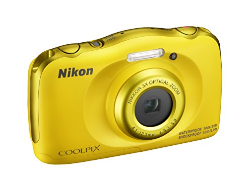Nikon COOLPIX W100Cámara Digital compacta, 13,2megapíxeles, LCD 3, Full HD, Amarillo...