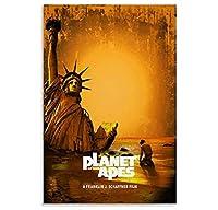 古典的な映画のポスター猿の惑星ポスター装飾画キャンバス壁アートリビングルームポスター-50x75cmフレームなし