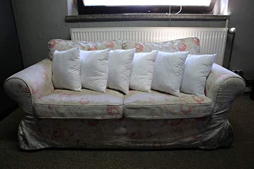 Warez 6er- Set Füllkissen, Kissen, Kissen für das Sofa - Gesteppte Mikrofaser, alle Größen (45x45 cm)