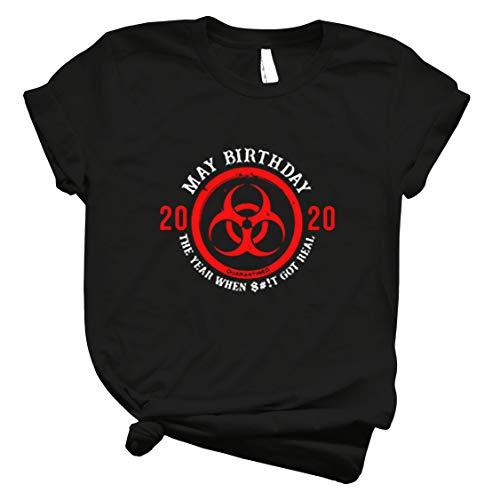 Biological Hazard May Birthday 2020 Quarantined Córónávírús Shirt For Man For Women Handmade T Shirt Teens Awesome Birthday Gift T Shirt