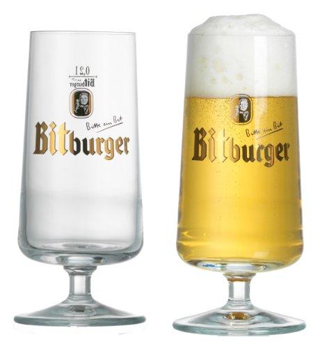 690705 Bierpokal-Glas Bitburger, 0.2 L, 2-er Set