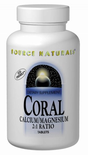 Source Naturals Coral Calcium & Magnesium 600 mg Dietary Supplement - 180 Tablets