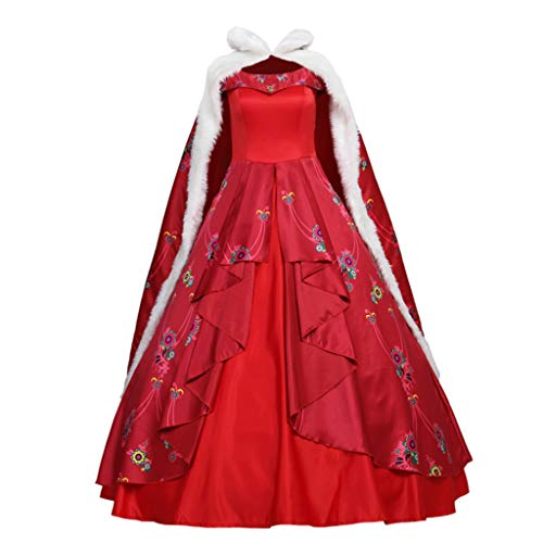 CosplayDiy Women's Dress for Elena of Avalor Princess Elena Cosplay Adult with Cloak M