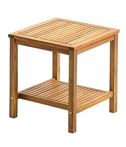 Dehner Beistelltisch Macao, ca.50 x 45 x 45 cm, FSC® Akazienholz, geölt, braun
