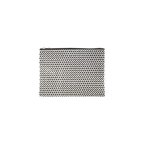 House Doctor Tasche, Paran, l: 21 cm, h: 15 cm schwarz, weiß