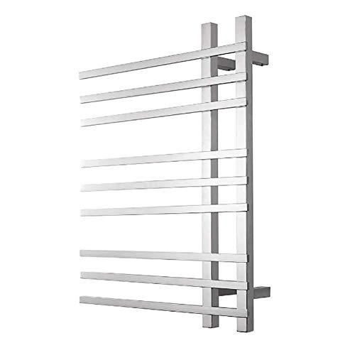 HXCD Toallero con calefacción, Calentador de Toallas de baño, radiador, Escalera de radiador con calefacción para baño de diseñador, 29,5 x 22 Pulgadas, Acero Inoxidable
