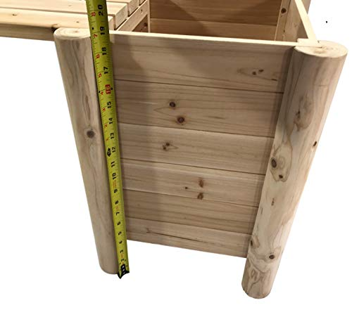 Boldly Growing Raised Planter Bench - Elevated Outdoor Patio Herb Garden Kit to Grow Herbs and Vegetables