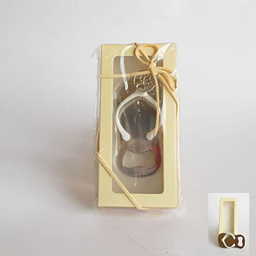 SUPER OFFERTA 6 PZ Apribottiglia INFRADITO in scatola regalo BOMBONIERA
