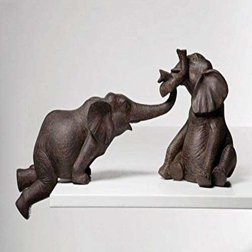 Kare Design Deko Figur Elefant Zirkus 2-er Set, Elefant Dekoobjekt, Kolonial Elefant, Vintage Elefant, (H/B/T) 18 x 54 x 21,5cm