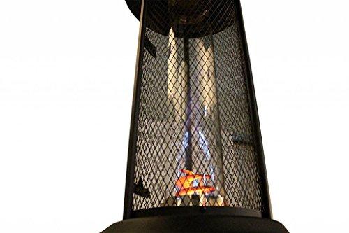 Traedgard Gas Heizstrahler Milano Kupfer mit Glasröhre 190 cm, versenkbar, mit Schutzhülle, Rollen und Gastroset, 65590 - 5