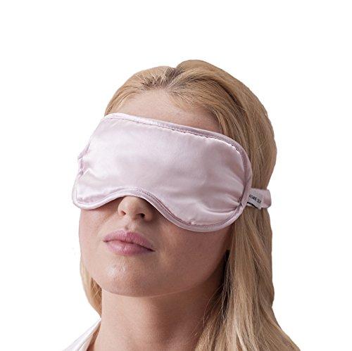 JASMINE SILK luxe 100% zijden slaapmasker oogmasker reizen silk eye masker - roze