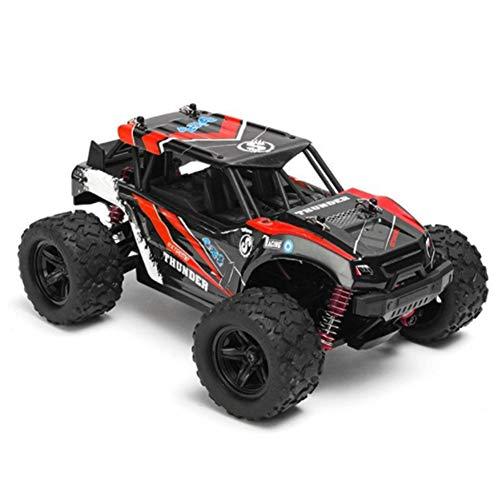 MLYWD 1:18 RC Voiture Télécommandée - 4WD 2.4Ghz Tout-Terrain Camion Buggy - à Grande Vitesse Voiture de Course Télécommandée avec Batteries Rechargeables pour Enfants Les Adultes(Rouge)