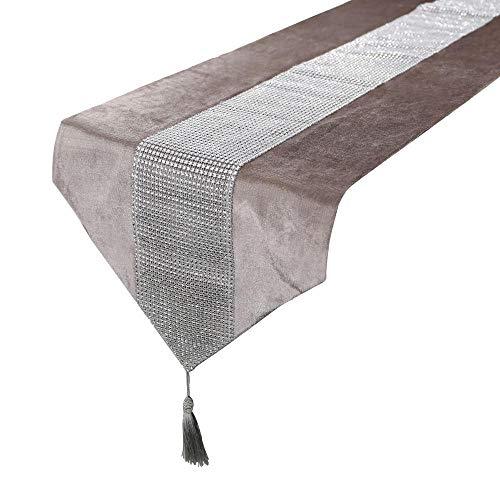 EDCV Home tafelkleed 32 * 180cm Modern Tafelloper Kussensloop Servet Voor Bruiloft Chirstmas Taart Bloemen Flanel Tafelkleed Decoratie, 32x250cm tafelloper, Rood
