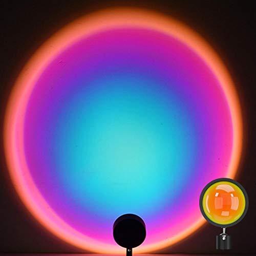 Kagodri Lámpara de pie con arco iris, proyector de lámpara de noche, ajustable, 360 grados, iluminación romántica de humor visual para sala de estar y dormitorio