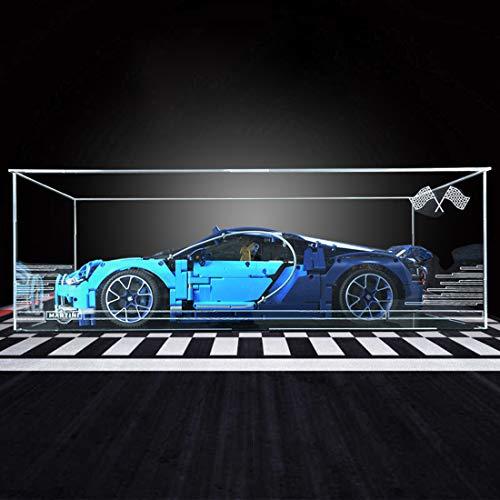 POXL Acrylic Display Case per (Bugatti Chiron) Modello - Display Box Case Showcase Compatibile con Lego 42083 ( Lego Set Non Incluso)