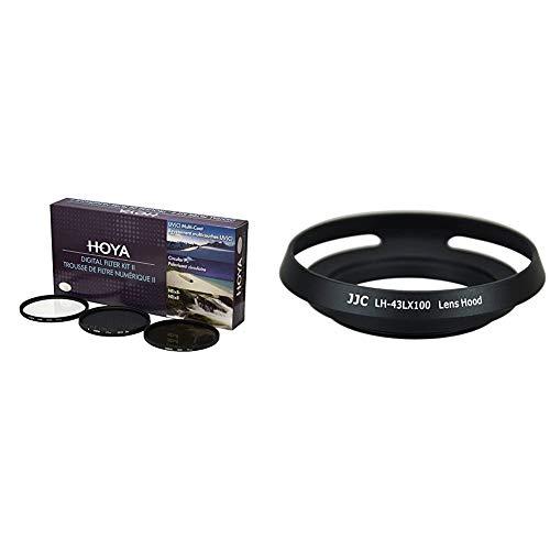 Hoya YKITDG043 - Kit de filtros, 43 mm + JJC LH-43LX100 - Pa
