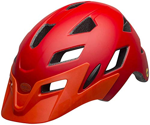BELL Sidetrack Kids MTB Helmet - Bright Red/Orange, 47-54cm / Mountain Biking Bike Riding Ride Cycling Cycle Children Child Youth Junior Head Skull Protection Protector Protect Head Safety Safe