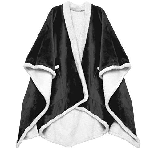 JUTOO Frauen Facecloth Decke Regen Cape Schal Abdeckung Decke warmes Badetuch (Grau,Einheitsgröße)