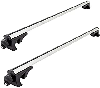 Rage Powersports Apex Side Rail Mounted Aluminum Roof Cross Bars – Universal up to 50""