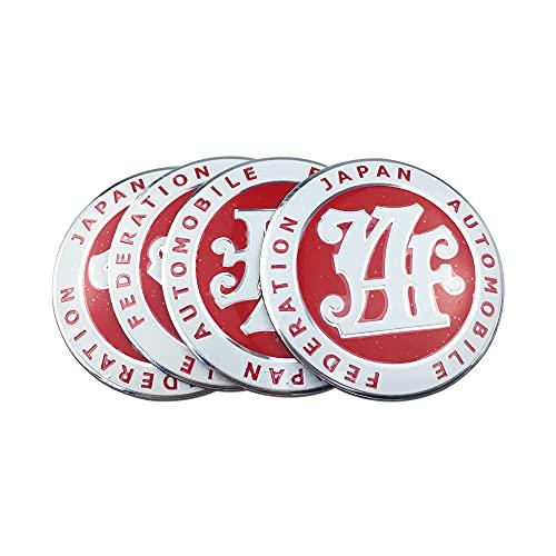 Tapas para tapacubos Auto Styling Neumáticos JDM Emblema Coche Centro de ruedas Cubierta Cubierta Pegatina Compatible con Toyota Corolla Hyundai Honda Mitsubishi Volkswagen Polo Tapas centrales para l