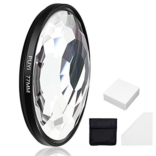 ICEBLUEOR Filtro caleidoscópico de 77 mm, para cámara de fotos réflex