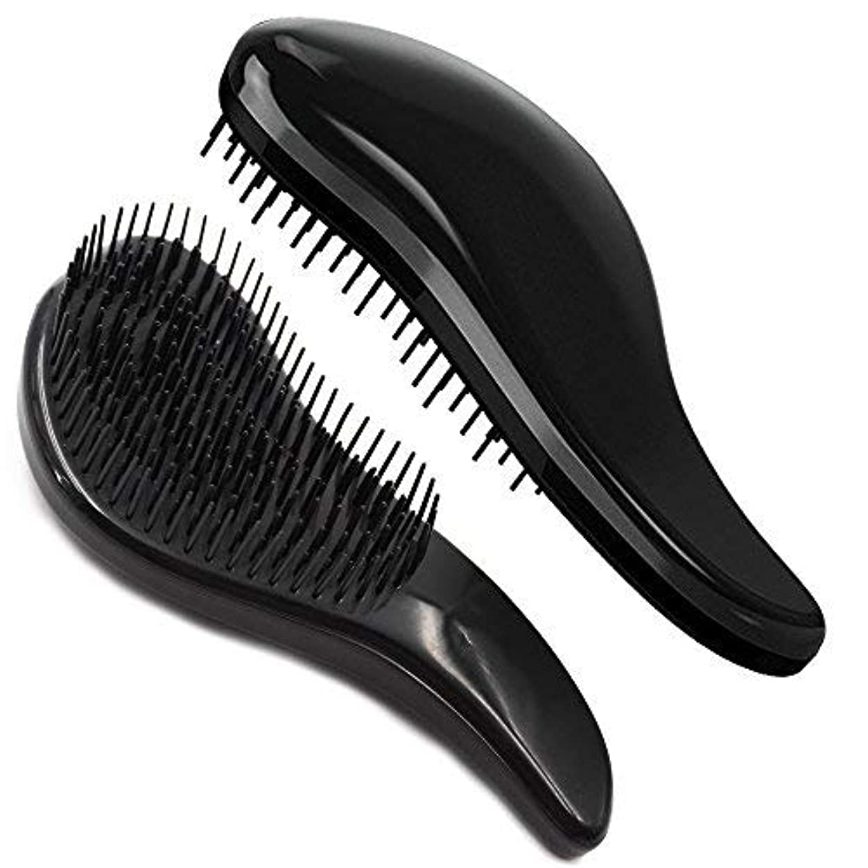 絶滅リスト拡声器Brush Master Detangler Hair Comb Hair Brush for Wet Hair Curly Hair Straight Hair for Women Men Kids Black [並行輸入品]