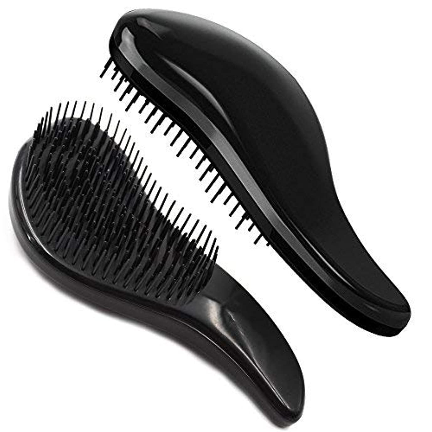 頑固な教カバレッジBrush Master Detangler Hair Comb Hair Brush for Wet Hair Curly Hair Straight Hair for Women Men Kids Black [並行輸入品]