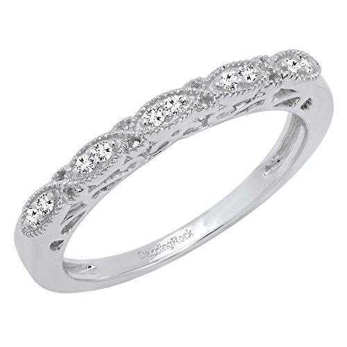DazzlingRock Collection - 14 Kt Weißgold Rund Leicht Getöntes Weiß/Crystal (J) Weißer Diamant
