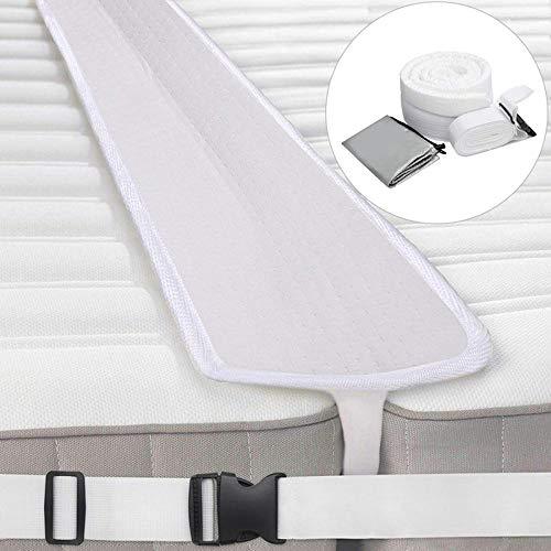 YUEKUN 200 * 20 * 5 cm Bettbrücke Liebesbrücke Doppelbett zu Queenbett Konverter kit Bettlückenfüller Matratzenanschluss für Hotel Gasthaus Gäste