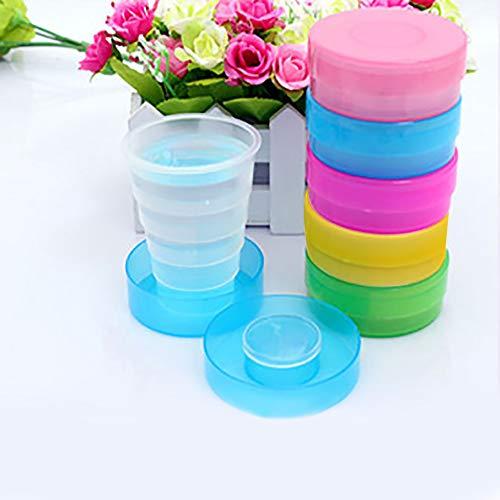 SUNERLORY Vaso de plástico, Vaso de Viaje Duradero y portátil, Vaso Plegable...