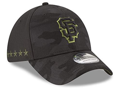 New Era Authentic San Francisco Giants Black 2018 Memorial Day 39THIRTY Flex Hat (Medium/Large) - M/L