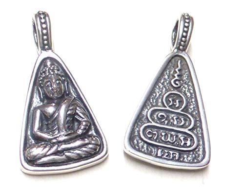 Colgante de cadena, colgante con diseño de Buda, como símbolo de protección y...