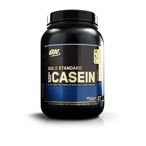 Optimum Nutrition Gold Standard 100% Casein Protein Powder, Creamy Vanilla, 2 Pound