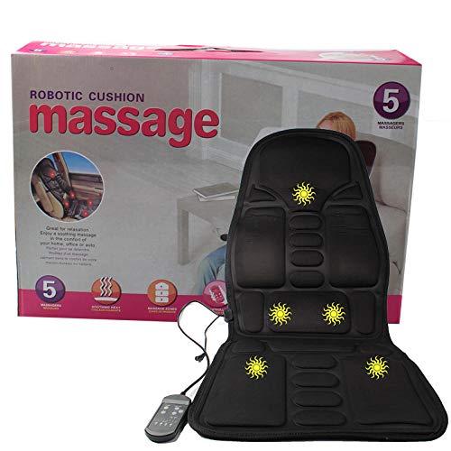 Auto Massage Heizung Sitzkissen für häusliche Ganzkörper Halswirbelsäule Massagegerät Kissen-Schwarz_Europäische Vorschriften
