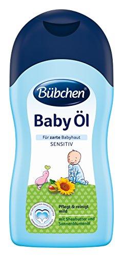 Bübchen Baby Öl, sensitives Körperöl für zarte Babyhaut, mit Sheabutter und Sonnenblumenöl, Menge: 1 x 400 ml