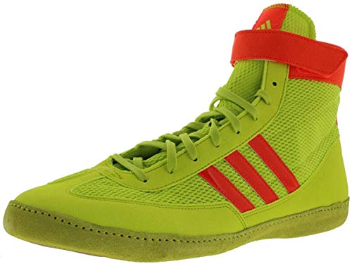 adidas Combat Speed 4 Youth Wrestling Shoes - White/Navy/White - 1.5