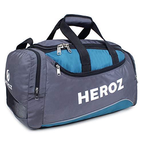 Heroz Heron Unisex Sports Polyster Travel Duffel 55 cms Gray & Air Force Blue (AHCH201GAB)