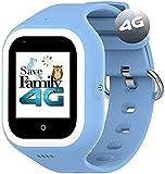 Reloj-Smartwatch 4G Iconic con Videollamada & GPS instantáneo Infantil y Juvenil SaveFamily. WiFi, Bluetooth, cámara, Fondos de Pantalla, identificador de Llamadas, Boton SOS Waterproof. (Azul)