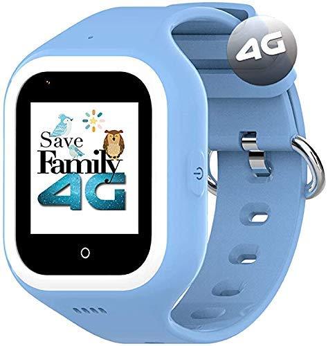 Reloj-Smartwatch 4G ICONIC con Videollamada & GPS instantáneo Infantil y juvenil SaveFamily. WIFI, Bluetooth, cámara, fondos de pantalla, identificador de llamadas, Boton SOS Waterproof Ip67.