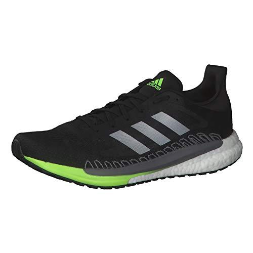 adidas Solar Glide 3, Running Shoe Mens, CBLACK/SILVMT/SIGGNR, 45 1/3 EU