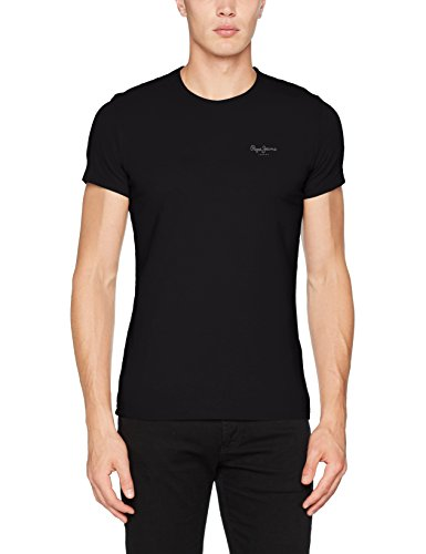 Pepe Jeans Herren Original Basic S/s T-Shirt, Schwarz (Black), Large