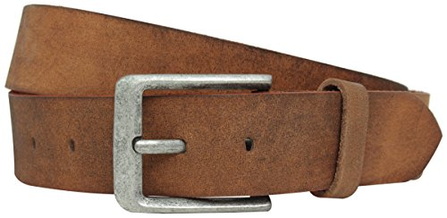 Gusti Damen Gürtel Leder - Lane Gürtel Damen Herren Gürtel Echtleder Braun Breite 4 cm 105cm Umfang mit Schnalle