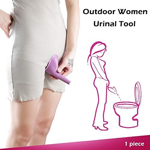 XiaoOu Camping Toilette 1 PC Portable en Plein air Femmes urinoir Pliable Femme Support pour Pipi Silicone miction Enfants Debout Pipi pour Voyage Camping Toilette