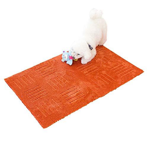 オカタイルカーペットオレンジ約45cm×60cm(2枚入り)ピタプラスPET(ジョイント吸着洗える)