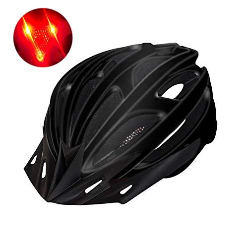 ZhangHai Réglable Casque de Vélo avec feu arrière à LED de sécurité Certifié CE Spécialisés Casque de VTT de Protection Ultraléger Montagne et Route pour Adultes Hommes et Femmes