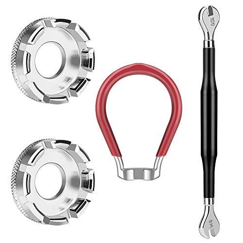 Winzwon Bike Spoke Wrench Tool Spoke Tool for Bicycle Rim Correct Kit Cycling Pocket Tools (4 Pack)