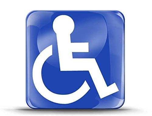 SkinoEu® 1 x Aufkleber 3D Gel Silikon Sticker Behindert Symbol Rollstuhlfahrer Rollstuhl Auto Moto Motorrad Fahrrad Skate Fenster Tür Tuning KS 56