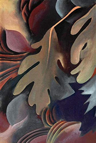 Georgia O Keeffe Leaves Under Water 1922 Private Collection 30 x 20 Fine Art Giclee Canvas Print product image